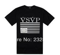 2014 New hip hop black vsvp t shirt branded men designer T-shirts men's casual t shirts summer 100%cotton short sleeve fashion