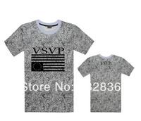 2014 New hip hop vsvp t shirt leopard branded men designer flower T-shirts men's casual t shirts summer 100%cotton short sleeve