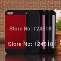 10pcs/lot South Korean brands Motomo Logo Luxury metal Aluminum back cover casr For iphone 5 5s 4 4s free shipping