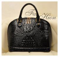 New 2014 Fashion Desigual Brand PU Leather Women Handbag Crocodile Big Shell Shoulder Bags Women Messenger Bags Totes Bolsas