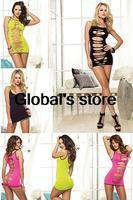 2014 European and American nightclub girl sexy summer dress Slim package hip strap dress miniskirt personality hollow