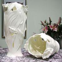 Free shipping White ceramic tulip vase fashion modern fashion decoration gift flower decoration