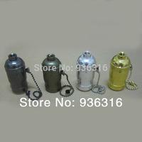 Free shipping 10pcs/lot pendant light  aluminum lamp holder E27/E26 LAMP bases Zipper switch four colors