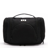Black Deluxe Large Hanging Hook Travel Toiletry Kit New Orgarnizer Shaving Bag