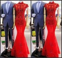 Ultimate luxury crystal formal dress formal dress toast the bride married formal dress evening dress xj3541