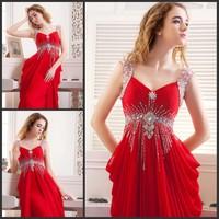 Ultimate luxury crystal formal dress formal dress toast the bride married formal dress evening dress sz79681