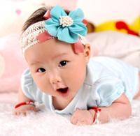 Baby lace chiffon flower princess headband kids accessories 3 colors 2014 new