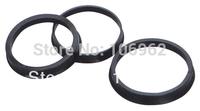 64.1-60.1mm 4 pcs/lot Black Plastic Wheel Hub Centric Rings Custom Sizes Available Retail & Wholesale China Post Free Shipping