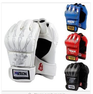 new 2014 whiteMMA / Boxing / Muay Thai / Martial Art Padded Inner Gloves Gel Hand Wraps Velcro Close Free size(China (Mainland))