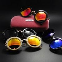 Fashion star style fashion sunglasses vintage round sunglasses women's classic glasses