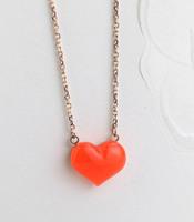 Love fashion elegant heart necklace titanium 18k rose gold color gold chain accessories gift