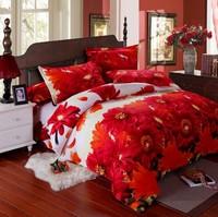 Home textile velvet activated piece set 3d stereo print four piece set fashion bedding