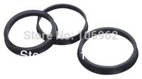 66.6-57.1mm 20 pcs/lot Black Plastic Wheel Hub Centric Rings Custom Sizes Available Wholesale China Post Free Shipping
