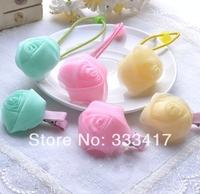 NEW Cute Girl Hair Clips Children's hair accessories baby flower hairpin snow yarn ropeKids Headwear Hair Accessory