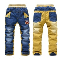 Free drop shipping Children jeans 2014 famous brand boys general leisure jeans 3-7years