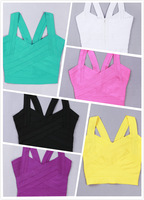 woman bandage dress sexy Slim Short harness tidal stitching vest