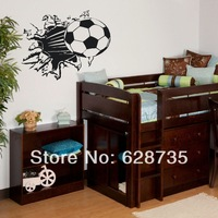 Free Shipping Soccer Ball Football vinyl Wall Sticker Decal Kids Room Decor Sport Boy Art Bedroom,s2002