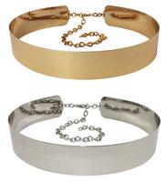 Fashion metal shafel 2014 endurably cummerbund metal chain wide belt strap decoration