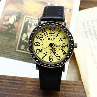 New 2014 Whatches Wach For Men Women Dress Watches Quartz Casual Leather Strap Wrist Vintage Watch Designer Brand Big Number