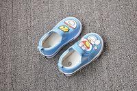 2014 Spring Autumn New Fashion children sneakers Cartoon Doraemon Boys Girls Canvas Sneakers Children Flat Shoes 1-4Y Free ship