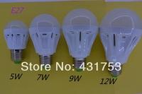 5pcs * E27 B22 5W 7W 9W 12W 5730 LED Bulb bindoor Lighting for home 110V/220V/AC Led lights lamp aras LED Bombillas new products