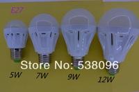 5pcs * E27 B22 5W 7W 9W 12W high quality Bulb Led light Lamp AC 110V/ 220V/230V/240V  5730 SMD White / Warm White Free Shipping