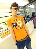 Digital 9 short t-shirt male short-sleeve T-shirt 2014 trend of summer clothes male short-sleeve t shirt