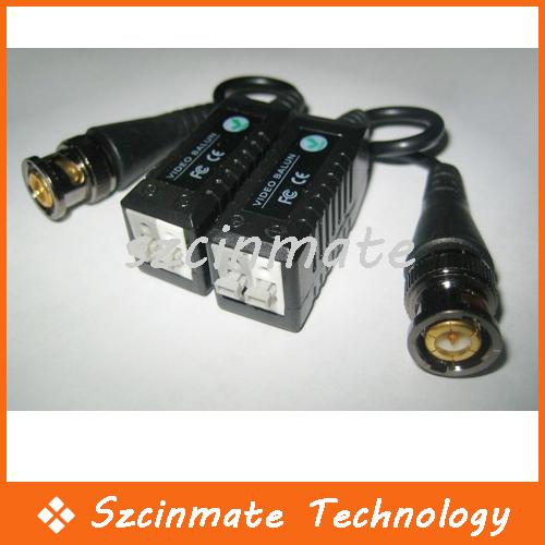 Single Channel CCTV Video Balun BNC RJ45 Transceiver 200pairs/lot Wholesale(China (Mainland))