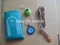 New compass muslim pocket prayer mat for muslim carpet  beads tally counter count reset