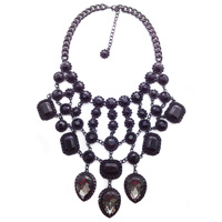 2014 Z  wholesale fashion necklace & pendant Europe costume chunky crystal choker collar bib pendant Necklace statement jewelry