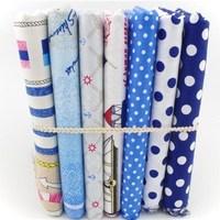 2014 new cute cartoon polka dot printed cotton fabric for patchwork home textlie handmade shirt diy material 40*50cm 7pcs/lot ZJ