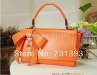 4 Colors Bowknot Handbags Women Sweet Bow Tote Sholder bags Messenger Women Pink,Beige,Blue,Orange handbags 204