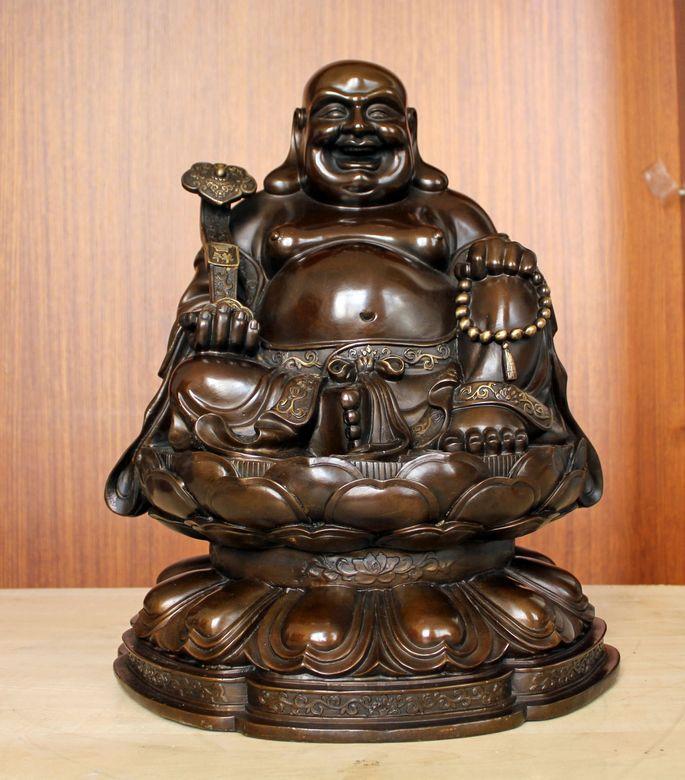 Copper maitreya decoration extra large maitreya decoration gift home(China (Mainland))