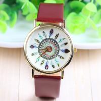 3 colors New Fashion Leather GENEVA Flower Watch For Women Dress Watch Quartz Watches 1pcs/lot