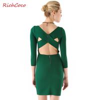 Sexy tube top slit neckline racerback zipper tight hip knitted slim  sleeve one-piece dress plus size female c049