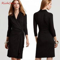 Fashion new arrival richcoco slim medium-long  one-piece dress full dress women's c056 size XS S M L XL XXL free shipping