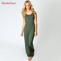 Richcoco fashion star fashion slim sleeve length vest one-piece dress c034