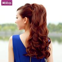 Free shippin Ponytail wig big wave lace straps fake ponytail long curly wavy ponytail volume