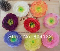 100Pcs/lot Eight Colors DIY Artificial Silk Flowers Simulation Tea Rose Camellia Flower Head Decoration Flower photography props