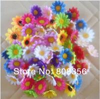 100Pcs/lot Handmade Artificial Silk Flowers Simulation Sunflower Little Daisy Chrysanthemum for DIY Hair Accessories corsage