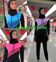wholesale 2014 islamic swimwear Muslim Bathing dress Islamic Swimsuits Style Fashion Full Body Swim suit