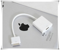 Dock Connector to HDMI Adapter Cable for iPad 3 2 1 iPhone4 4G for iPhone 4 4S for iPod Touch HDTV 1080P