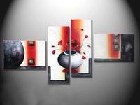 Abstract Flower Oil Painting Contemporary decoration High Quality handmade Home Office Hotel wall art decor artwork Free ship