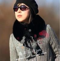 Hot-selling fox fur collar black square collar bandeaus fur scarf raccoon