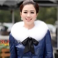 Luxury all-match fox fur collar female o-neck fur scarf bandeaus collar raccoon fur collar princess