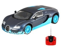 Free shipping + Electronic 2014 New Remote Control Toys JinJun 1:16 Bugatti Veyron 16.4 Super Sport RC Model Car (Blue & Black)