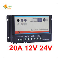 20A 12V 24V EP EPIPDB-COM Dual Duo Two Battery Solar Charge Controller Regulators