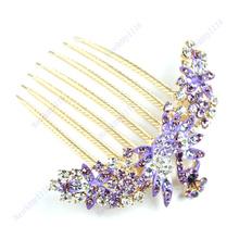 High Quantity Headband Tiara Hair Comb Pin Wedding Bridal Rhinestone Crown Peacock Style Hair accessory