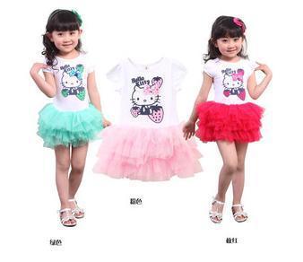 Hello kitty girls dress veil kt strawberry KT cat Hello Kitty bow veil Kids(China (Mainland))
