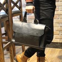 handbag bag men Crazy horse leather shoulder  messenger briefcase bags handbags